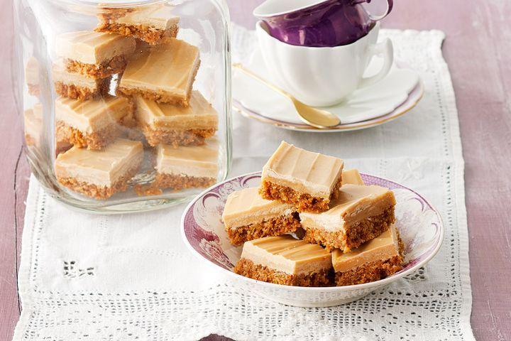 Ginger, Caramel White Chocolate Slice Recipe